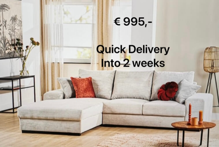 E. Quick delivery collection, 2 weken levertijd!